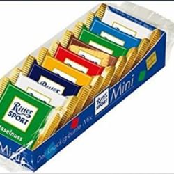Snack FREE CioccoSnack 56€ 5 pacchi di Ritter sport mini...