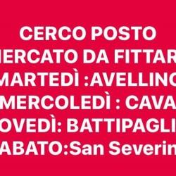 cerco posti mercato da fittare €1 - Salerno