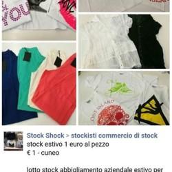 stock abbigliamento estivo 1 euro al pezzo €1 - cuneo...
