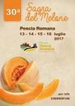 30° sagra del melone PESCIA ROMANA 13-14-15-16 luglio 2017 per...