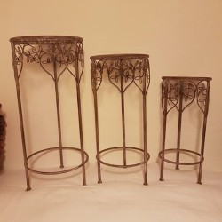 Tavolini tris bellissimi in metallo anticato €69 - Cento, Emilia...