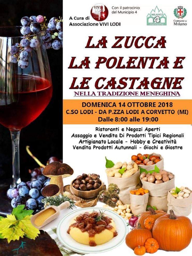 La zucca, la polenta e le castagne nella tradizione meneghina 2018 a Milano
