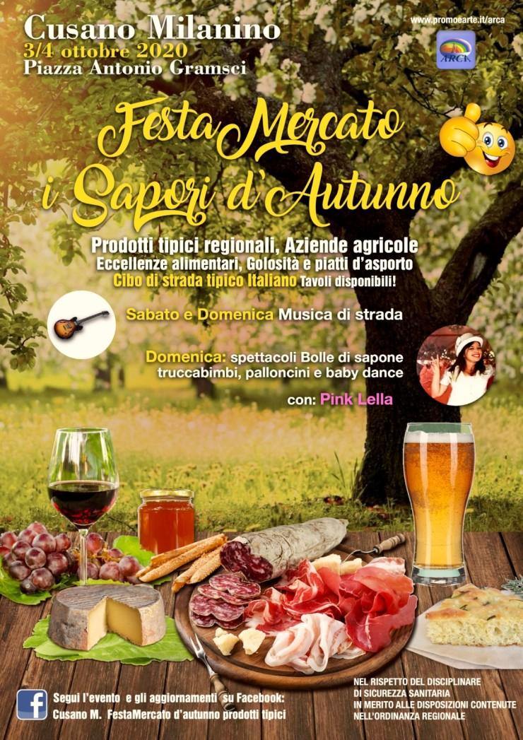 CUSANO MILANINO: Festa mercato I Sapori d'Autunno 2020
