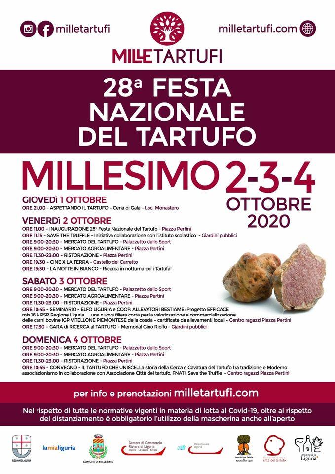 MILLESIMO (SV): Festa Nazionale del Tartufo 2020