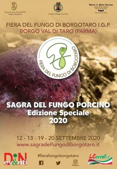 BORGO VAL DI TARO (PR): Sagra del Fungo Porcino 2020