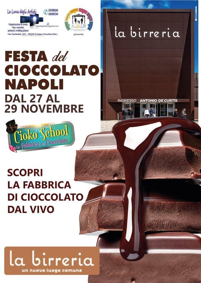 """NAPOLI: Festa del cioccolato 2020 al Centro commerciale """"La Birreria"""""""