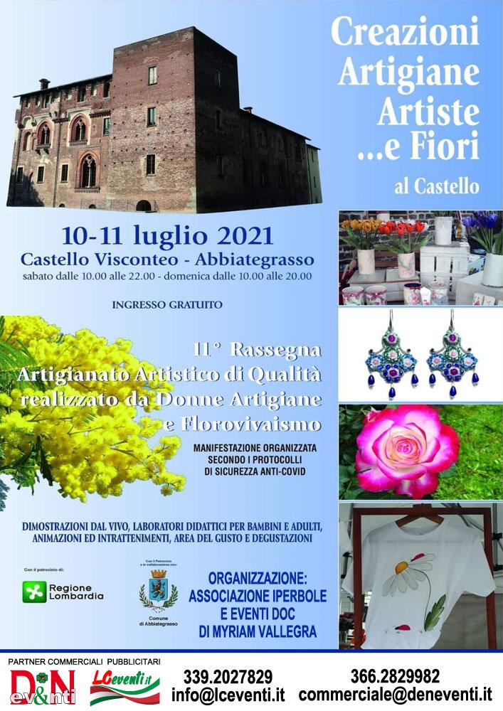 ABBIATEGRASSO (MI): Creazioni Artigiani Artiste... e Fiori al Castello Visconteo