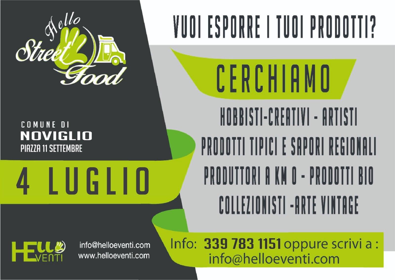 NOVIGLIO (MI): Hello Street Food 2021