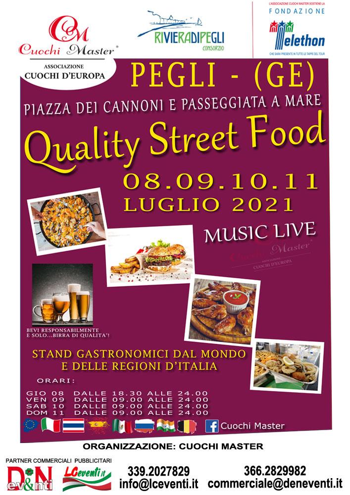 PEGLI (GE): Quality Street Food 2021
