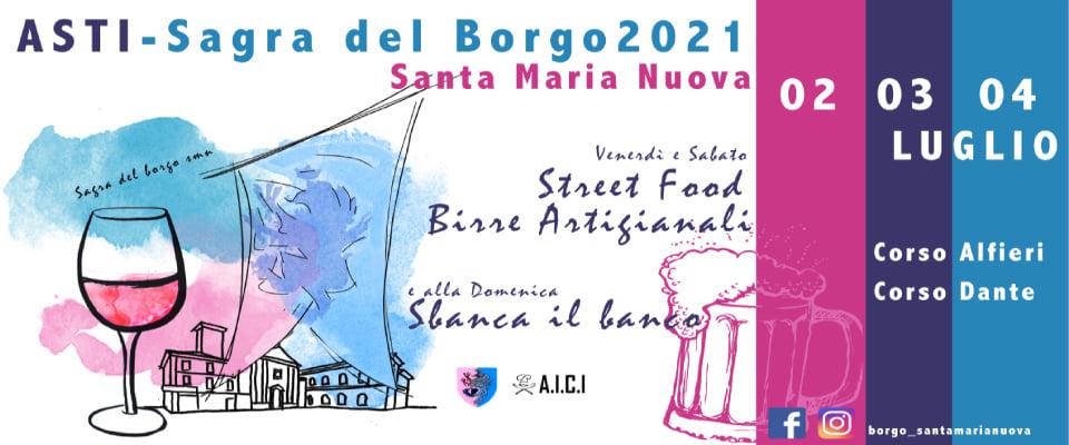 ASTI (AT): Sagra del Borgo Santa Maria Nuova 2021