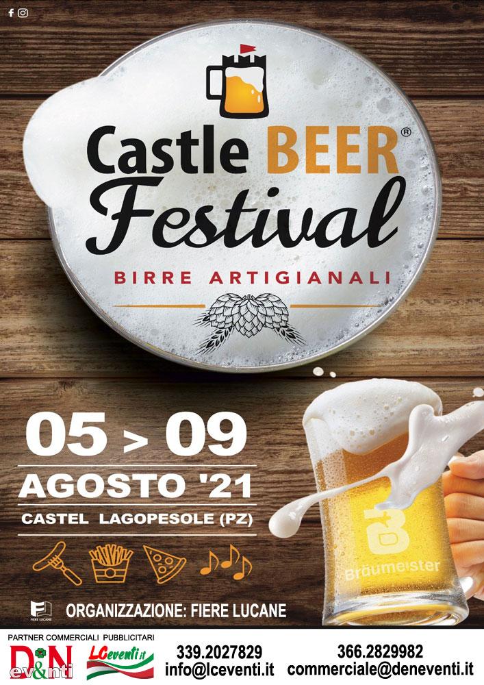 AVIGLIANO (PZ): Castle Beer Festival 2021 a Castel Lagopesole