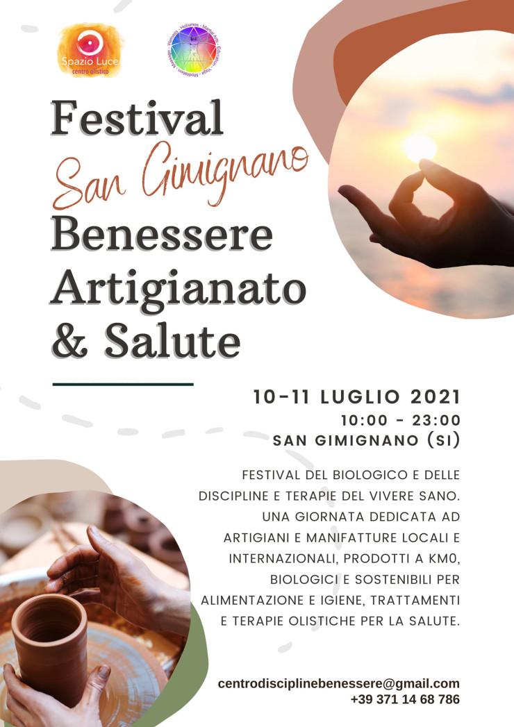 SAN GIMIGNANO (SI): Festival Benessere Artigianato e Salute 2021