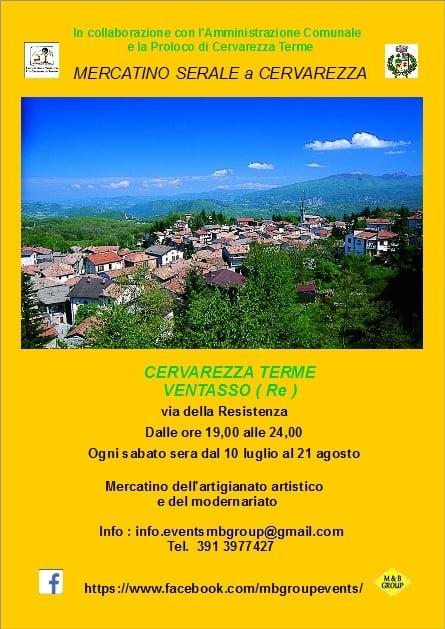 VENTASSO (RE): Mercatino serale a Cervarezza Terme