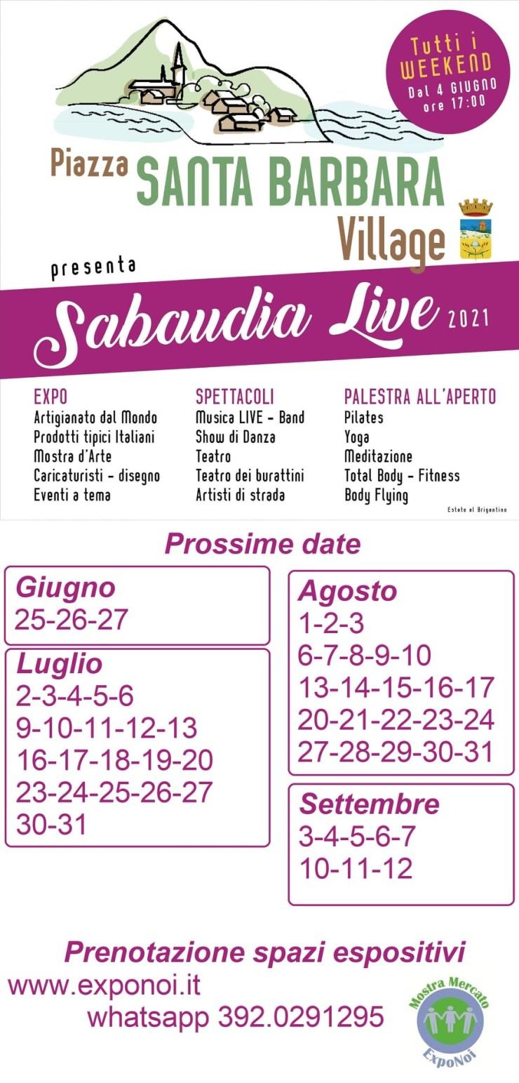 SABAUDIA (LT): Sabaudia Live 2021 al Piazza Santa Barbara Village