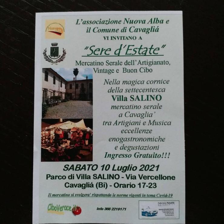 CAVAGLIA' (BI) - Sere d'Estate 2021 a Villa Salino