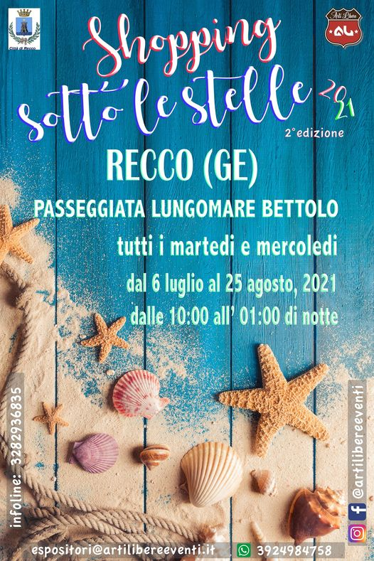 RECCO (GE): Shopping sotto le stelle 2021