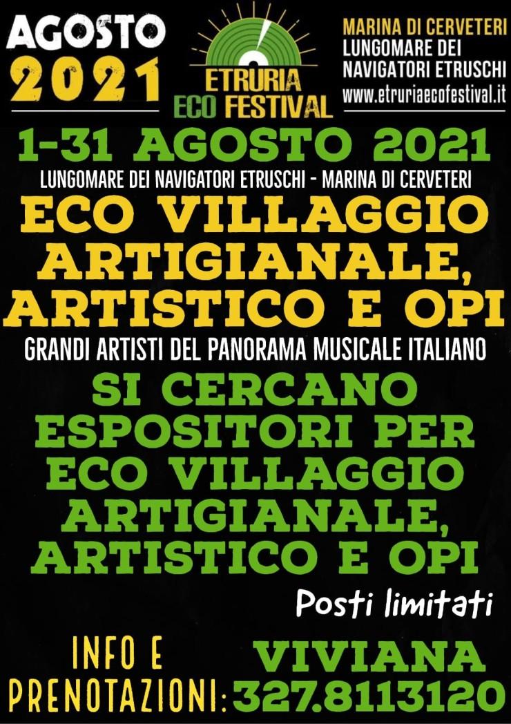 CERVETERI (RM): Etruria Eco Festival 2021 in frazione Marina