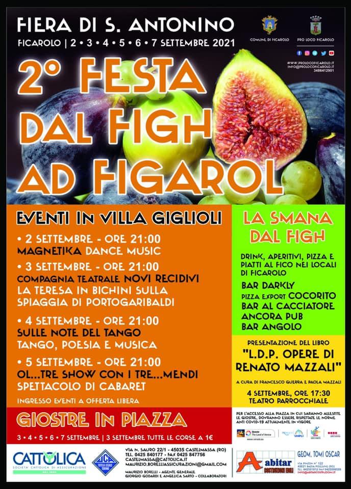 FICAROLO (RO): Festa dal Figh ad Figarol 2021 - Fiera di Sant'Antonino