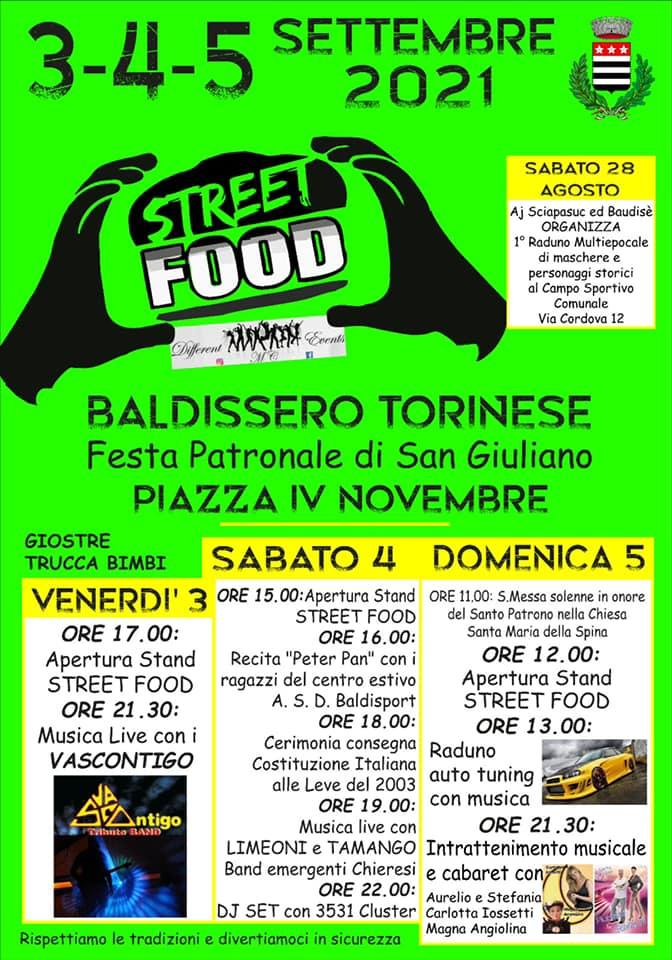 BALDISSERO TORINESE (TO): Street Food alla Festa di San Giuliano 2021