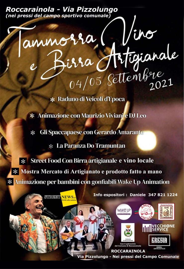 ROCCARAINOLA (NA): Festa della Tammorra, Vino e Birra Artigianale 2021