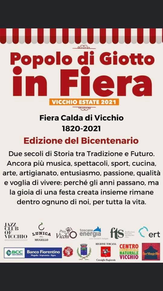 VICCHIO (FI): Fiera Calda di Vicchio 2021 - edizione del bicentenario