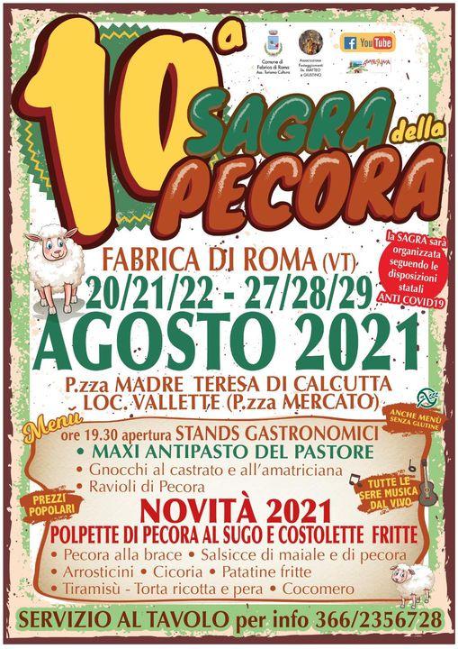 FABRICA DI ROMA (VT): Sagra della Pecora 2021
