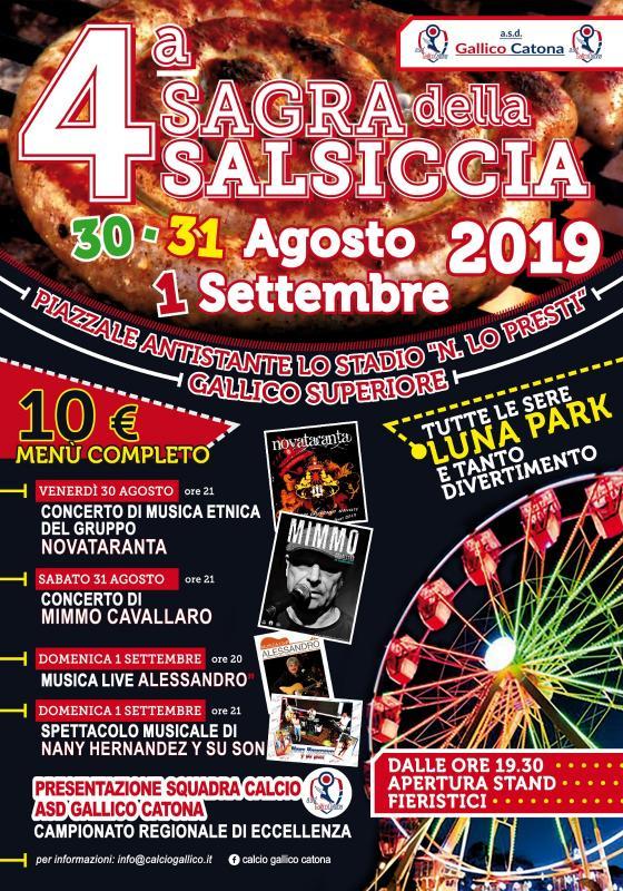 REGGIO CALABRIA (RC): Sagra della Salsiccia 2021 a Gallico Superiore