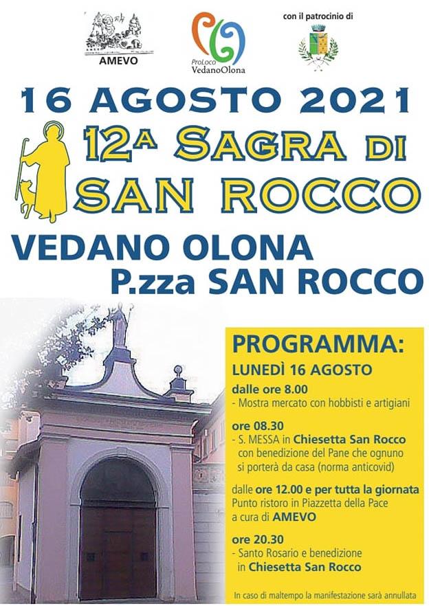 VEDANO OLONA (VA): Sagra di San Rocco 2021