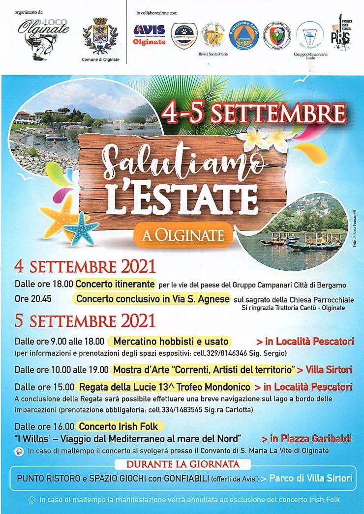 OLGINATE (LC): Salutiamo l'estate 2021