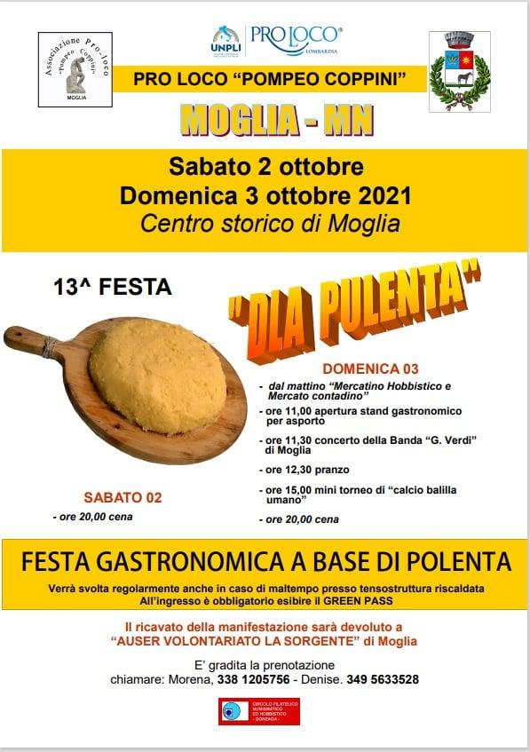 MOGLIA (MN): Festa della Polenta 2021