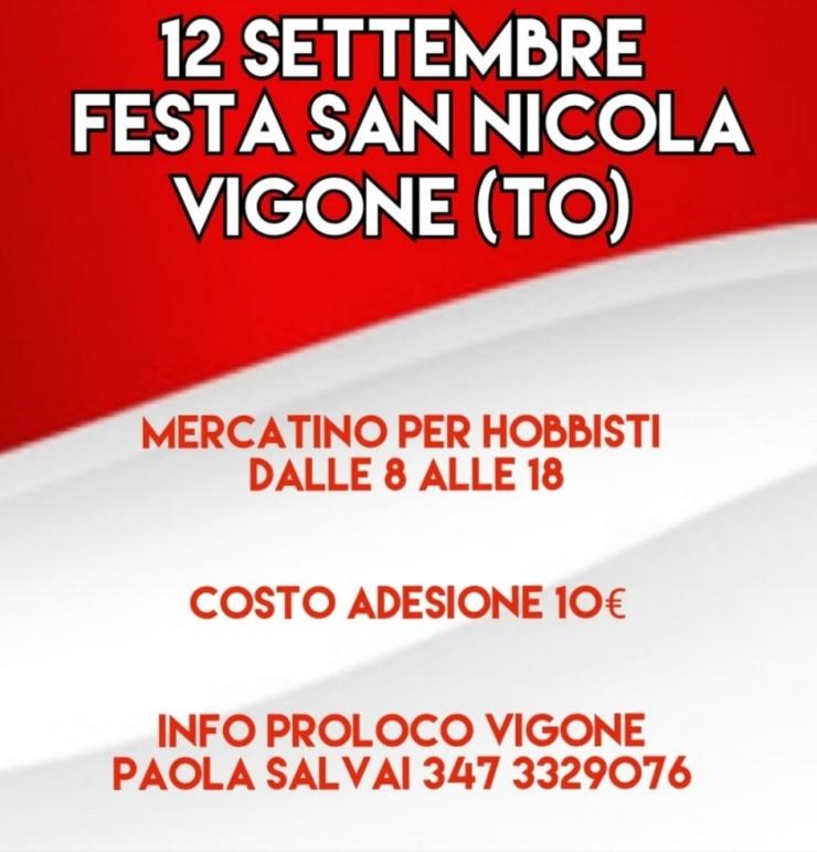 VIGONE (TO): Festa di San Nicola 2021 - mercatino