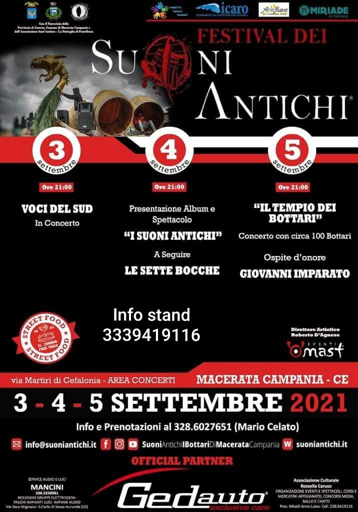 MACERATA CAMPANIA (CE): Festival dei Suoni Antichi 2021