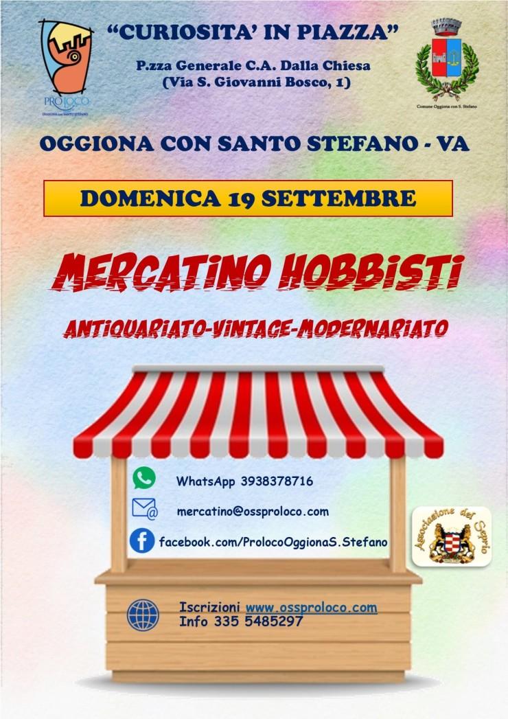 OGGIONA CON SANTO STEFANO (VA): Mercatino hobbisti