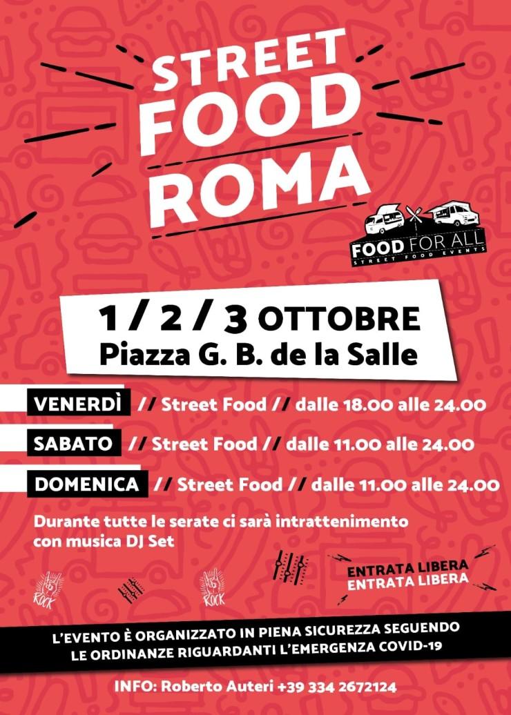 ROMA: Street food in Piazza G. B. de la Salle