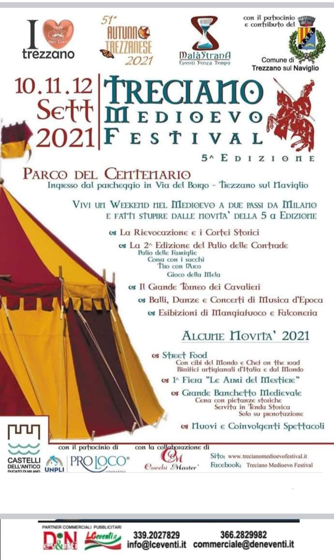 TREZZANO SUL NAVIGLIO (MI): Treciano Medioevo Festival 2021