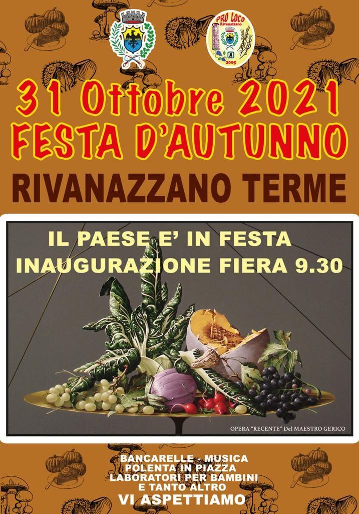 RIVANAZZANO TERME (PV): Festa d'Autunno 2021