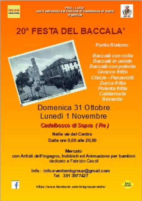 CASTELBOSCO DI SOPRA (RE): Festa del Baccalà 2021