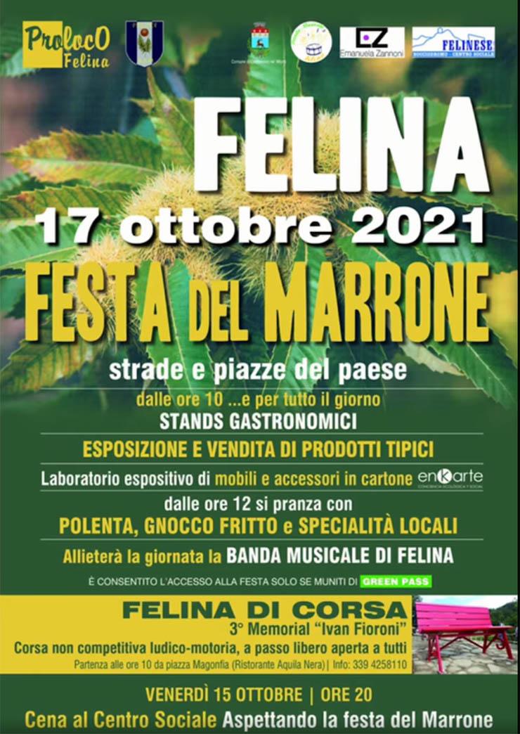 CASTELNOVO NE' MONTI (RE): Festa del Marrone 2021 a Felina