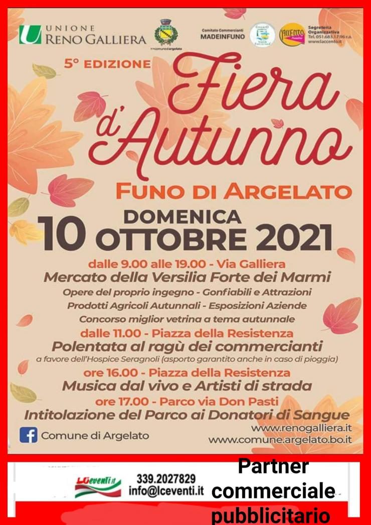 ARGELATO (BO): Fiera d'Autunno 2021 a Funo