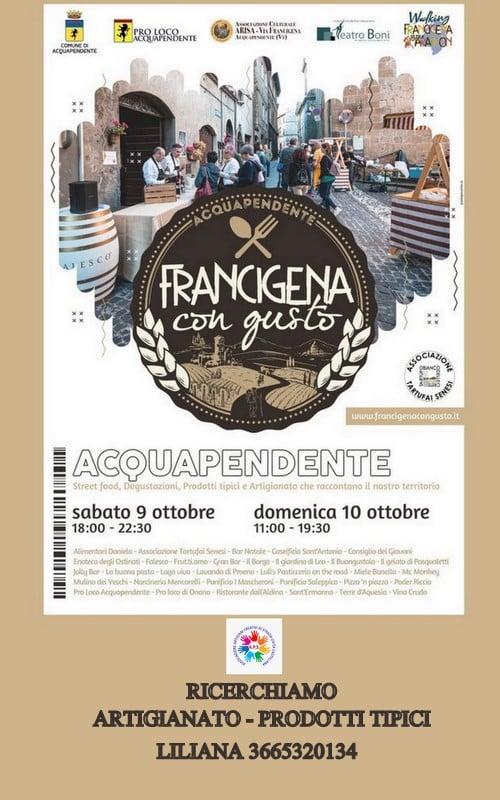 ACQUAPENDENTE (VT): Francigena con Gusto 2021