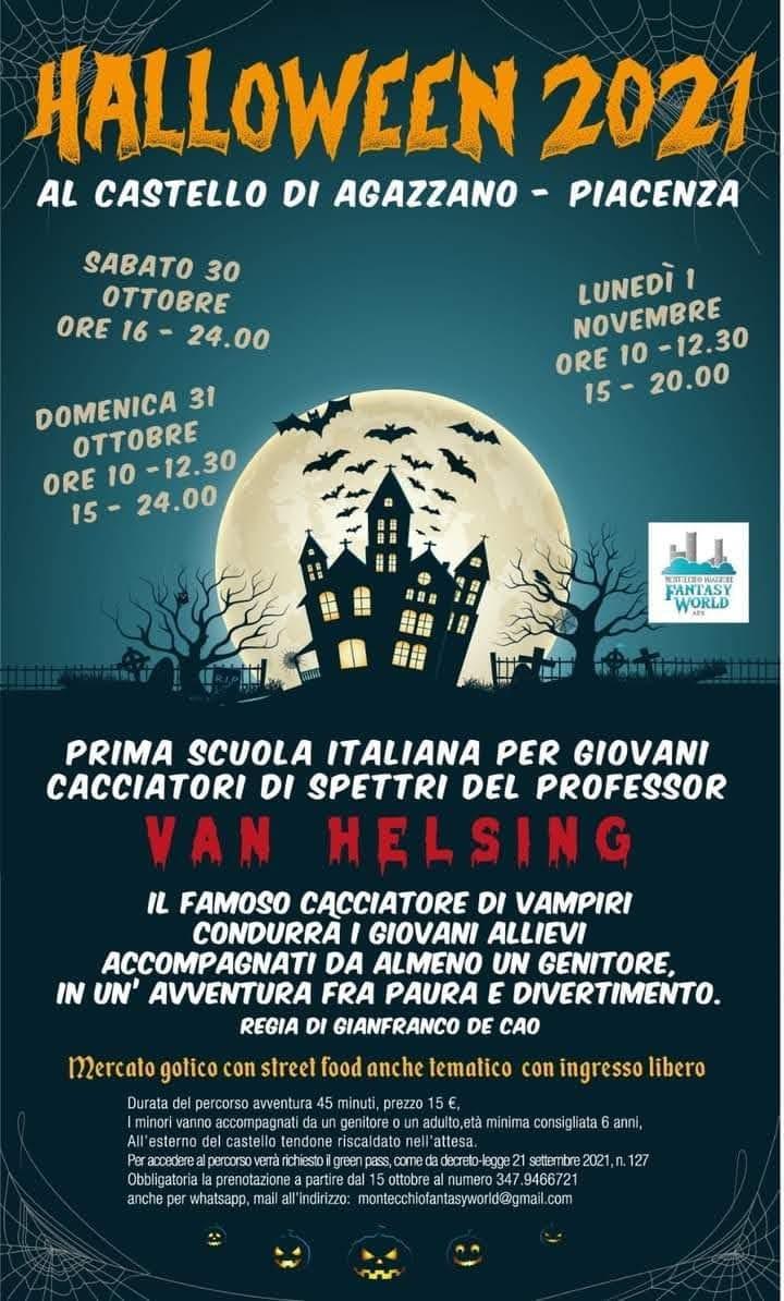 AGAZZANO (PC): Halloween 2021 al Castello di Agazzano