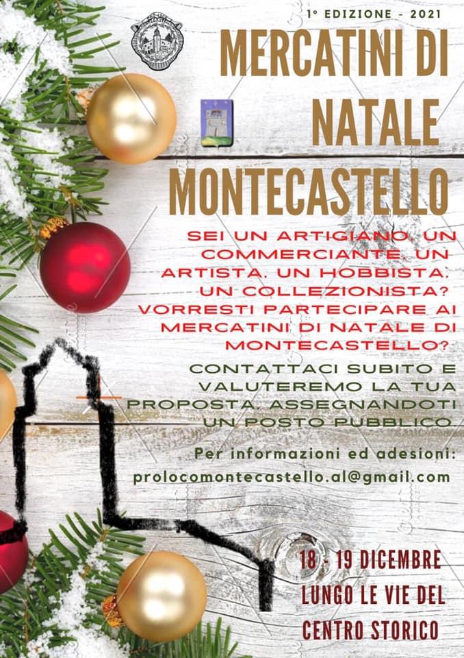 MONTECASTELLO (AL): Mercatini di Natale 2021