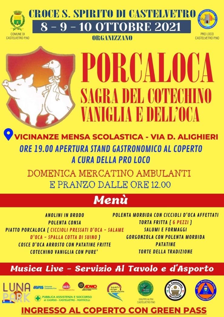 CASTELVETRO PIACENTINO (PC): Porcaloca 2021